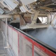 火车卸灰口干雾抑尘